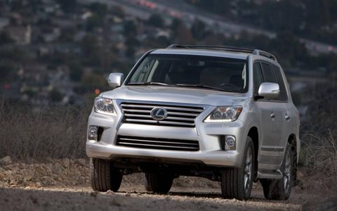 The 2013 Lexus LX570 is powered by a 5.7-liter V8 making 383 hp and 403 lb-ft of torque.