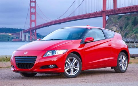 The CR-Z is powered by a 1.5-liter four-cylinder hybrid making 122 hp and 123 lb-ft of torque.
