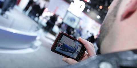The Chicago Auto Show mobile app is loaded with data for attendees.