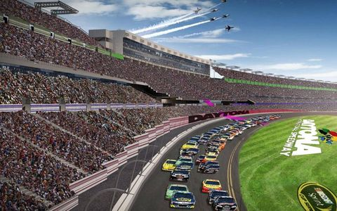 Daytona International Speedway officials have unveiled artist renderings of planned renovations to the home of the Daytona 500.