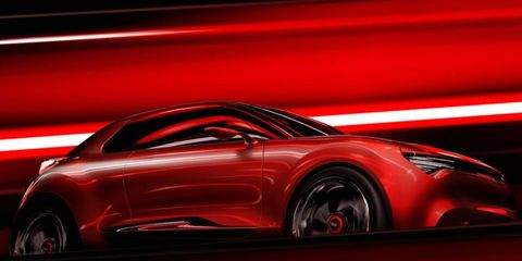 A side view of the Kia concept for the Geneva motor show.