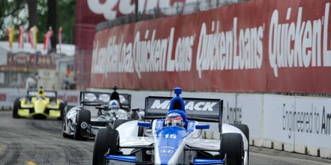 IndyCar will have standing starts at one race from the doubleheaders at Toronto and Houston, while there will be rolling starts for both races at Bell Isle, above.