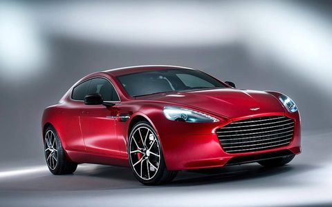 The 2014 Aston Martin Rapide gets an updated grille.