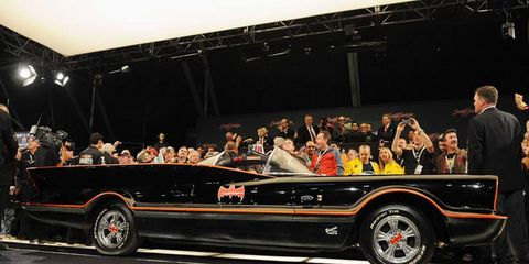 The George Barris Batmobile sold for $4.6 million at auction.