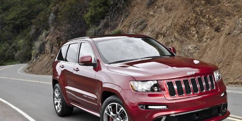 The 2013 Jeep Grand Cherokee SRT8 is offered in two special-edition packages, the Alpine and the Vapor.