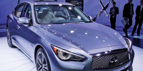The Infiniti Q50 goes on sale this summer with the 3.7-liter engine that powers its predecessor, the G37. A clean diesel engine is coming but will be sold initially only in Europe.