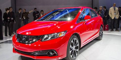 Honda rushed a refresh of the Civic. The 2013 model debuted at the 2012 Los Angeles auto show and went on sale the next day.