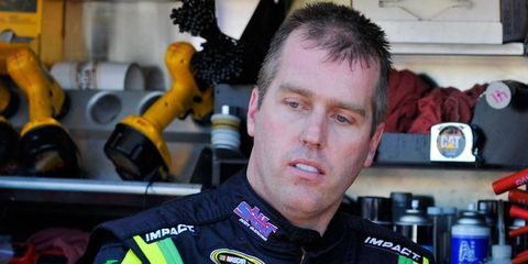 Jeremy Mayfield, shown here in 2009, remains hopeful that he will be able to resume his NASCAR driving career.