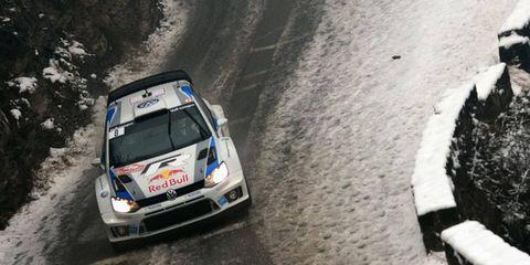 Sebastien Ogier finished 1 minute, 43 seconds back of Sebastien Loeb at the WRC event in Monte Carlo.