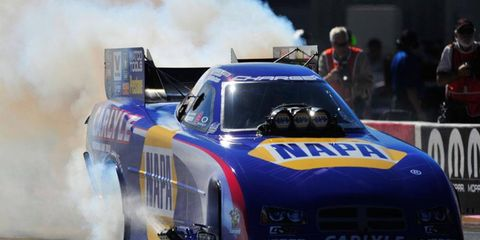 Ron Capps is going from an NHRA Funny Car this weekend to a job working the sidelines at the Super Bowl for KNBR radio in San Francisco.