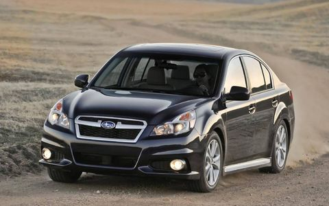 The 2013 Subaru Legacy 2.5i Limited features a 2.5-liter 173-hp engine.