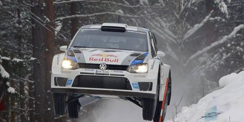 Sebastien Ogier is still in the lead after two days of rallying in Sweden.
