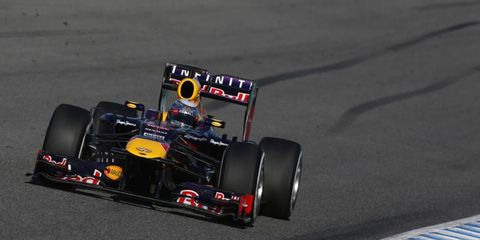 Sebastian Vettel said he was happy with his Red Bull Formula One car in testing Friday in Spain.