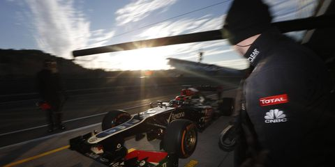 Kimi Raikkonen was the quickest driver in Formula One testing on Friday in Spain.