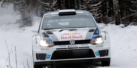 Sebastien Ogier, runner-up at the World Rally Championship's event Jan. 17-20 at Monte Carlo, has the early lead in Sweden.