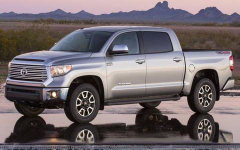 Changes to the 2014 Toyota Tundra include a taller grille and a sharper edge to some of the body panels.
