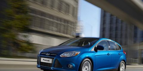 The 2012 Ford Focus Titanium Hatchback is the best looking it its class.