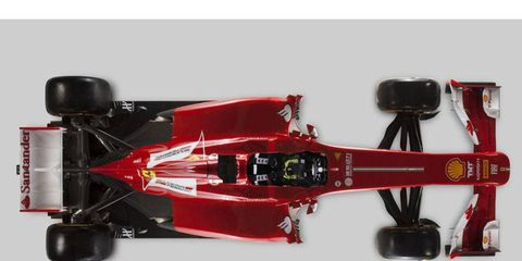 The Ferrari F138 launched today in Italy.