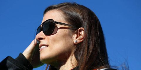 Danica Patrick watches qualifying at Daytona International Speedway after posting a team that no one would beat.