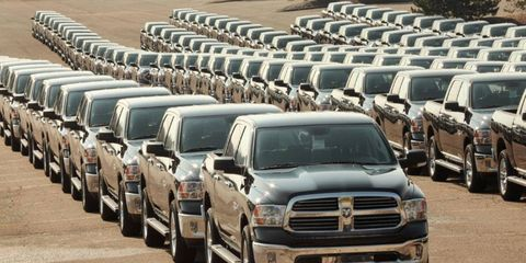 The Ram 1500 pickup gets a diesel engine option for the 2014 model year.