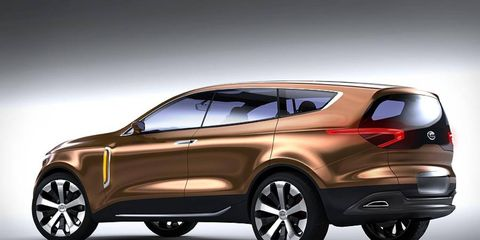 The Cross GT concept previews a future crossover for Kia.