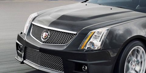 This is the front end of the current Cadillac CTS. The redesigned CTS debuts in late March at the New York auto show.