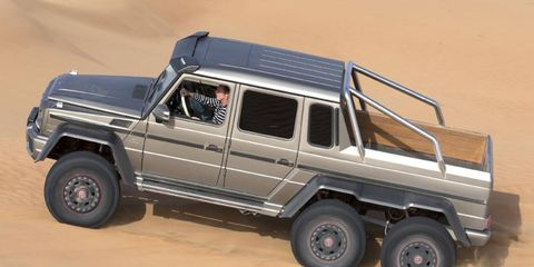 The Mercedes-Benz G63 AMG 6x6 will go into low volume production later this year.