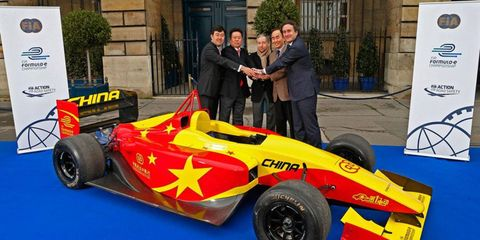 China Racing is one of 10 teams entered in the FIA series for all-electric cars set to begin racing in 2014.