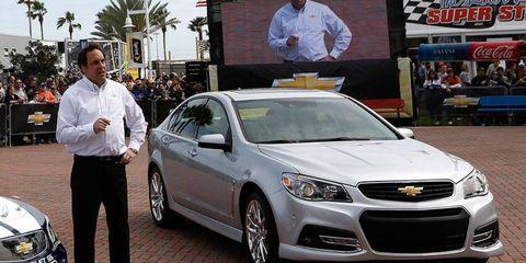 Mark Reuss, General Motors North America president, unveils the 2014 Chevrolet SS at Daytona International Speedway on Feb. 16.