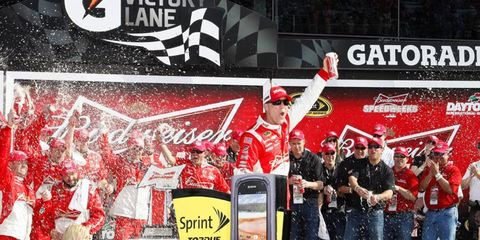 Kevin Harvick won the first of the duels at Daytona on Thurday.