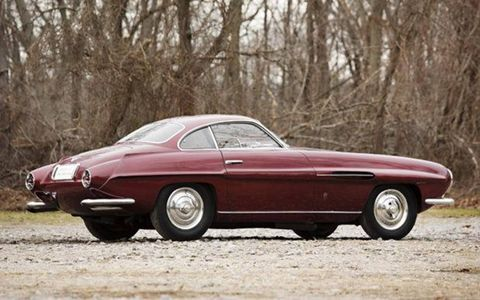 This extremely rare 1953 Fiat 8V Supersonic features a body by Ghia.