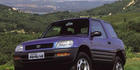 In 1994, the RAV4 -- the name stands for Recreational Active Vehicle 4-wheel-drive -- came equipped with a 2.0-liter four-cylinder engine that made 133 hp and 134 lb-ft of torque.