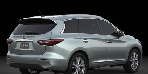 The Infiniti QX60 Hybrid will be shown at the New York auto show.