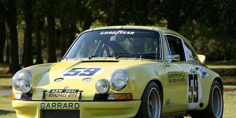 This 1973 Brumos Porsche 911 Carrera RSR won the 12 Hours of Sebring.