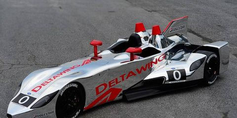 The DeltaWing has gone from black to chrome for its 2013 racing look. The car will compete in the American Le Mans Series this year.