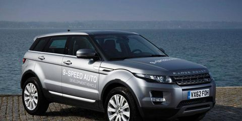 The Range Rover Evoque is the first production vehicle to employ the new ZF nine-speed automatic transmission.