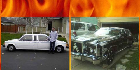 Custom car nightmares: A two-headed Mazda GLC and a Lincoln Longship...which eternity shall you choose?