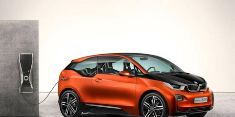 The BMW i3 coupe concept was first revealed at the Los Angeles Auto Show.