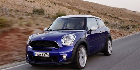 The Mini Paceman, which is now in dealerships, will be on display at the New York auto show.