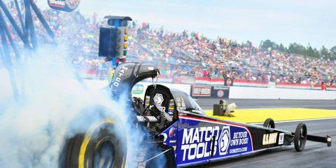 Antron Brown got the NHRA Top Fuel dragstger victory on Sunday in Gainesville, Fla.