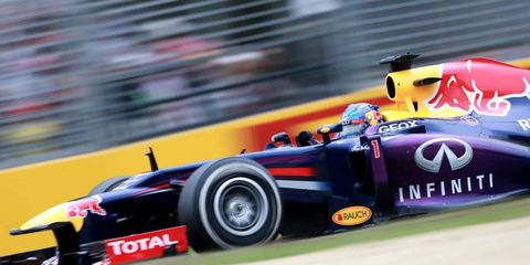 Sebastian Vettel started on the pole and finished third on Sunday in Melbourne.