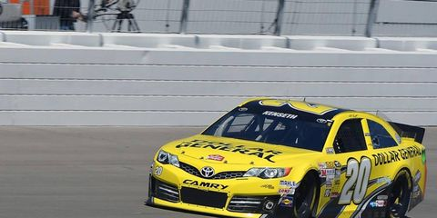 Matt Kenseth, shown last week in Las Vegas, was the leader halfway through the 500-lap race at Bristol Motor Speedway.