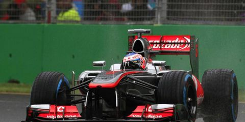 Jenson Button was not impressed with the conditions in Australia on Saturday.
