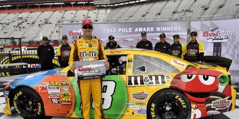 Kyle Busch didn't win by much, but he still took the pole for the Sprint Cup race at Bristol.