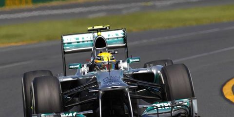 Bernie Ecclestone gave a tip of the cap to Lewis Hamilton, who is in his first season with Mercedes.
