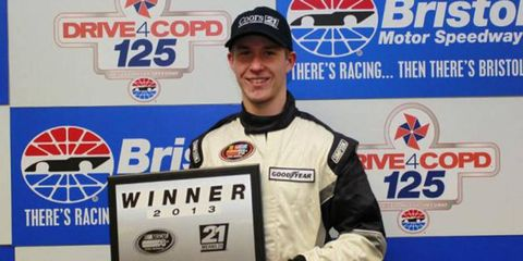 Michael McGuire, who lives just across the Tennesse border in Virginia, won the first pole of the K&N Pro East Series season on Thursday.