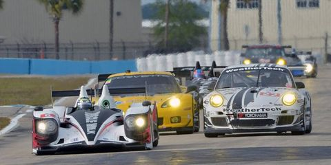 ALMS held practice today in Sebring. The series will be merging with Grand-Am, and acting under a new name.
