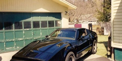 This is the only photo we have of a mysterious, alluring 1975 Bricklin SV-1 for sale at Hemmings.