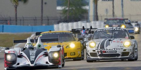 The Muscle Milk team led the field in Tuesday's practice session at Sebring, Fla. The American Le Mans Series opens its season there on Saturday.