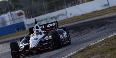 Will Power was the fastest car at IndyCar testing at Barber Motorsports Park.